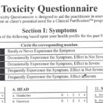 Toxicity Questionnaire